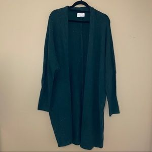 Old Navy green flecked long cardigan